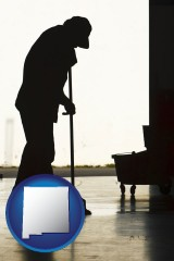new-mexico a janitor silhouette