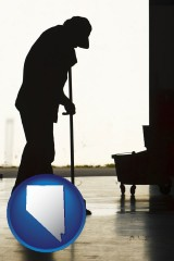 nevada a janitor silhouette