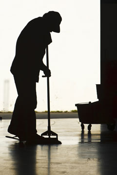 a janitor silhouette